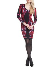 Plenty By Tracy Reese Printed Knit Sheath Dress Nouveau
