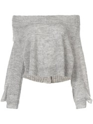 Taylor Situation Off Shoulder Sweater Grey
