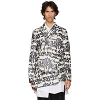 Comme Des Garcons Homme Plus White And Black Embossed Jacket