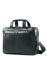Samsonite Black Leather Briefcase No Color