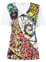 Emilio Pucci Stained Glass Print T Shirt White