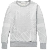 Remi Relief Patterned Cotton Sweatshirt Gray
