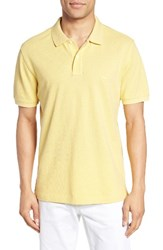 Rodd And Gunn Men's 'The Gunn' Pique Sports Fit Cotton Polo Lemon