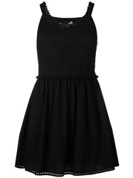 Love Moschino Perforated Mini Dress Black