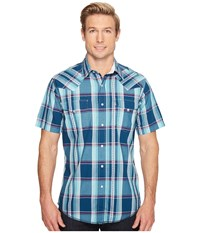 Roper 0848 Blueberry Dobby Blue Men's Clothing