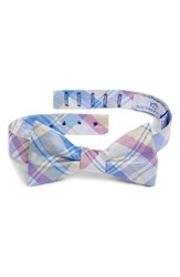 Southern Tide Boca Vista Plaid Silk Bow Tie Yellow