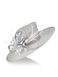 Jacques Vert Feather Flower Hat Grey