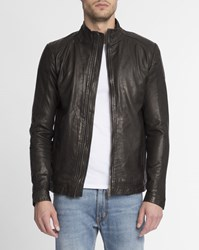Revolution Dark Grey 7131 Fitted Leather Jacket
