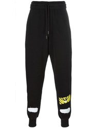Off White Diagonals Spray Pants Black