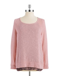 Casual Couture By Green Envelope Layered Effect Sweater Light Blush