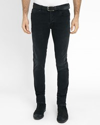 Ikks Faded Black Stretch Slim Fit Jeans