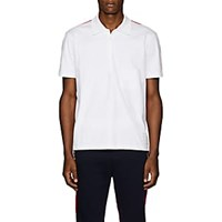 Thom Browne Striped Cotton Polo Shirt White