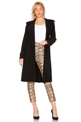 Norma Kamali Double Breasted Trench Coat Black