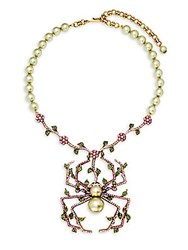 Heidi Daus Summer Garden Spider Faux Pearl And Crystal Statement Necklace No Color