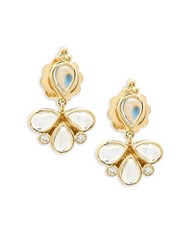 Temple St. Clair Crystal And 18K Yellow Gold Dangle And Drop Earrings