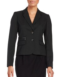 Calvin Klein Knit Pinstriped Blazer Black