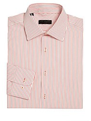 Ike By Ike Behar Regular Fit Striped Dress Shirt White
