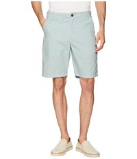 True Grit Heritage Chino Shorts Hand Treated Washed With Stitch Detail Vintage Pool Blue