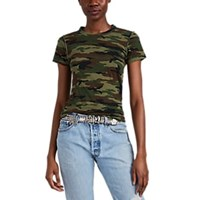 Nsf Alessi Camouflage Cotton T Shirt Green