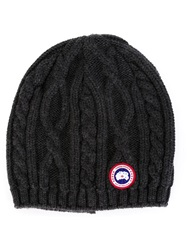 Canada Goose Cable Knit Beanie Grey