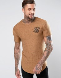 Sik Silk Siksilk T Shirt In Stone With Curved Hem Stone