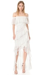 Badgley Mischka Collection Off Shoulder Gown Ivory