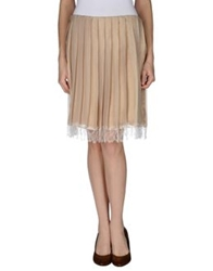 Gold Case Knee Length Skirts Sand