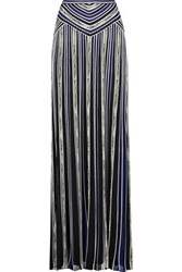 Roberto Cavalli Embroidered Stretch Knit Maxi Skirt Multi