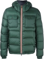 Moncler Hooded Puffer Jacket Green