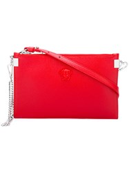 Versace Palazzo Chain Trim Pouch Red