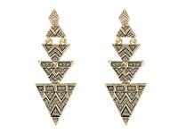 House Of Harlow Pave Tribal Triangle Earrings Gold Earring