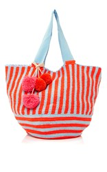 Sophie Anderson Jonas Striped Tote Red