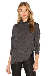David Lerner Long Sleeve Turtleneck Tee Charcoal