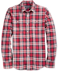 American Rag Men's Garcia Washed Plaid Shirt Only At Macy's Red