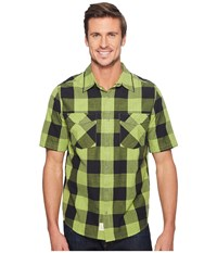 Woolrich Zephyr Ridge Space Dye Shirt Leaf Green Men's Short Sleeve Button Up
