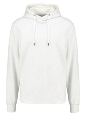 G Star Gstar Calow Zip Hooded Sw L S Sweatshirt White Heather Milk