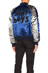 Comme Des Garcons Shirt Polyester Cloth Quilted Bomber Jacket In Blue