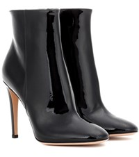 Gianvito Rossi Dree Patent Leather Ankle Boots Black
