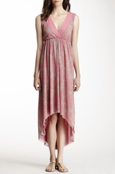 Sweet Pea V Neck Hi Lo Dress Pink