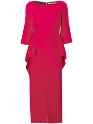 Roland Mouret Crane Dress Red