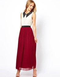 Love Maxi Skirt Oxblood Red