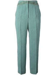 Marco De Vincenzo Cloque Tapered Trousers Green