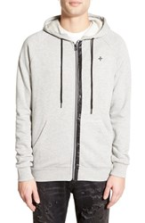 Men's Tavik 'Recruit' Elbow Patch Zip Front Hoodie