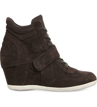 Ash Bowie Wedge Suede Ankle Boots Bistro Suede