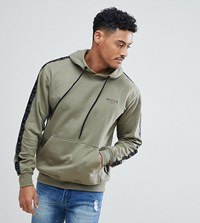 Nicce London Hoodie With Side Stripes Green
