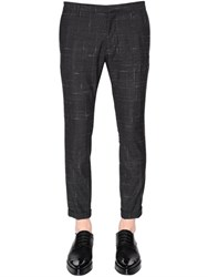 Dsquared 15Cm Skinny Check Wool Cady Pants