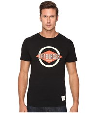 The Original Retro Brand Vintage Cotton Short Sleeve Fatburger Tee Black Men's T Shirt