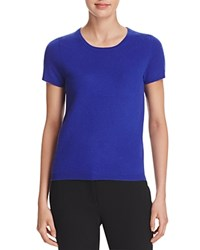 Bloomingdale's C By Short Sleeve Cashmere Sweater Cobalt