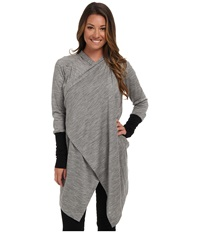 Icebreaker Bliss Wrap Metro Heather Black Women's Sweater Gray