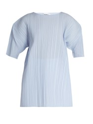 Jil Sander Cipriass Pleated Top Light Blue